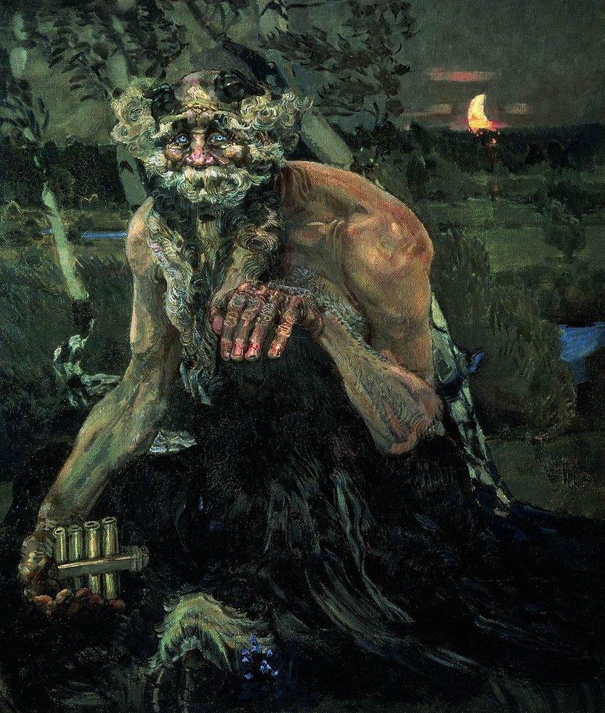 Пан. Черт. Михаил Врубель. Картина, фото старика, фотография